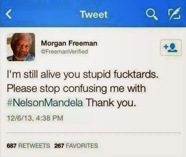 Morgan Freeman Tweet