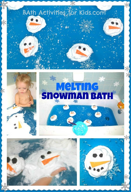 Melting Snowman Bath for Kids
