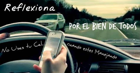 No Uses tu Celular si estas Manejando