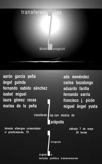 Nuevo recital de TransferenZias(Zaragoza- Madrid)