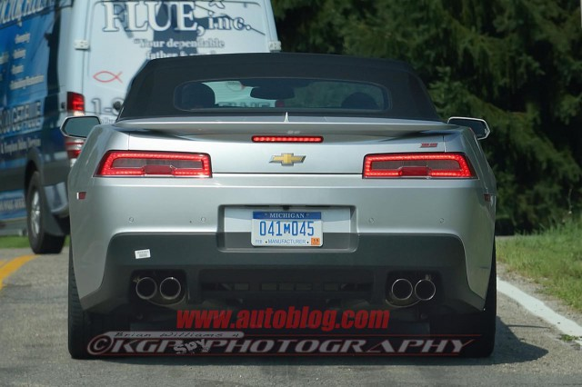 2014 Chevrolet Camaro SS Convertible Spyshots