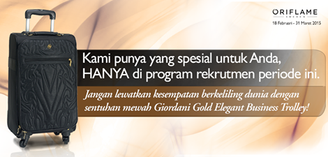 Promo Member Oriflame 18 Februari - 31 Maret 2015 - Giordani Gold Elegant Business Trolley