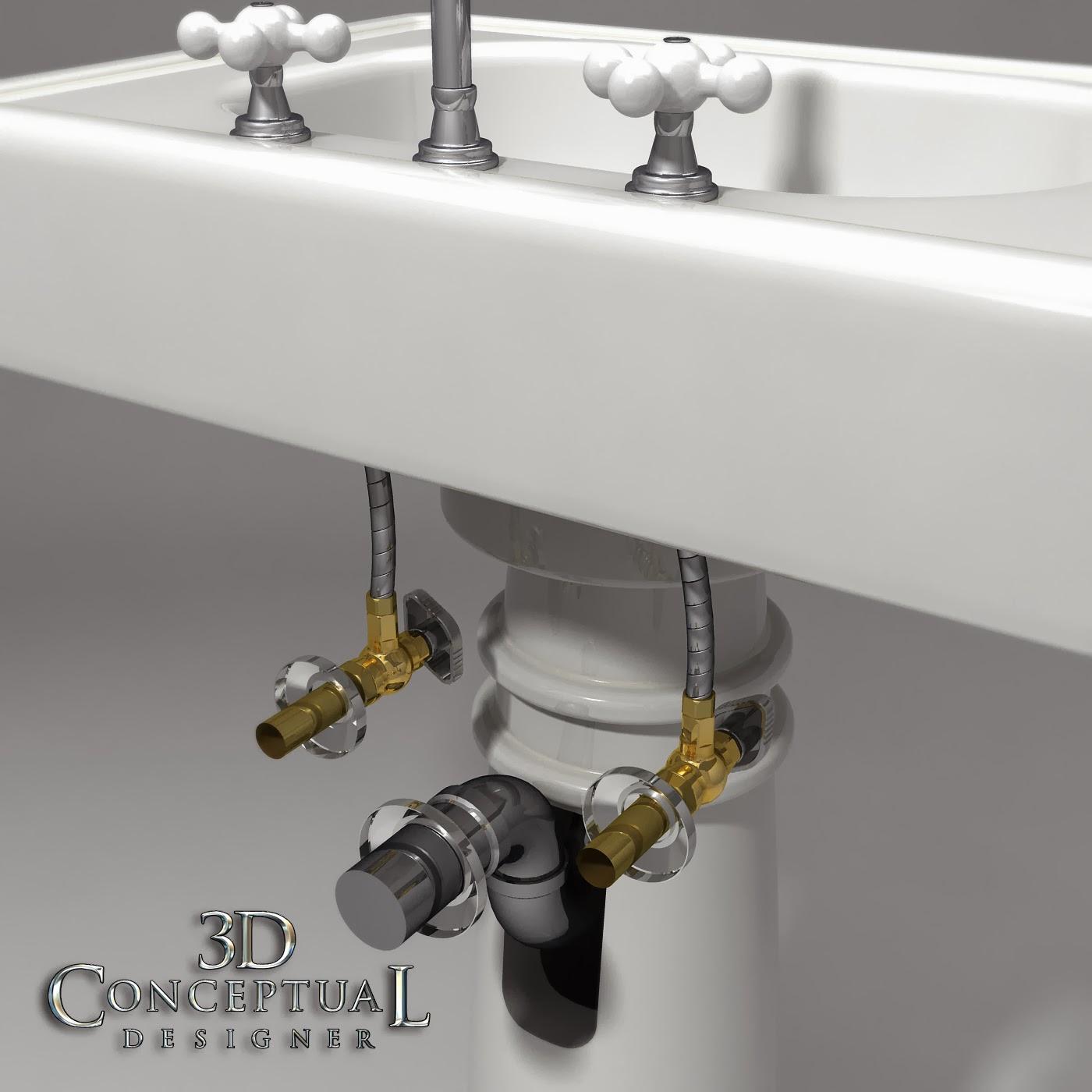 1920 Pedestal Sink : ... : 3D Stock Model Build Review: 1920s Pedestal Sink 2005