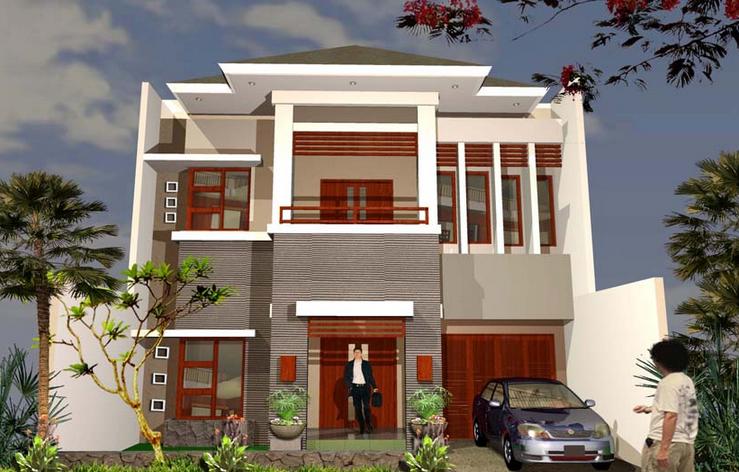 desain rumah tingkat minimalis 2 lantai type 60 36 45