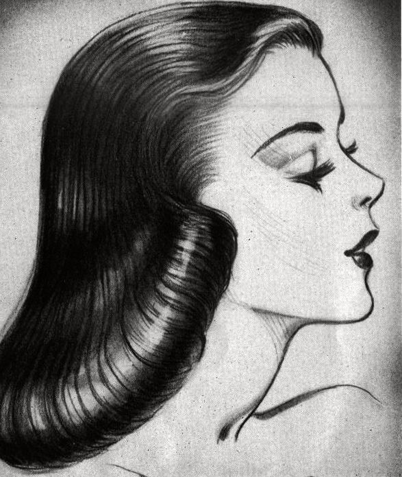 The pageboy hairdo was stylish among young women.