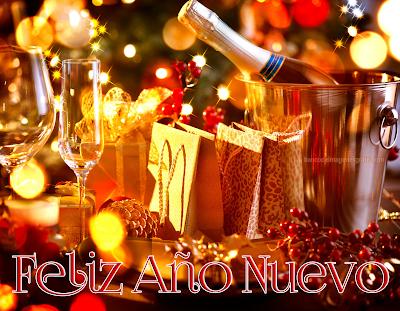 Imágenes de brindis de fin de año con mensajes de año nuevo