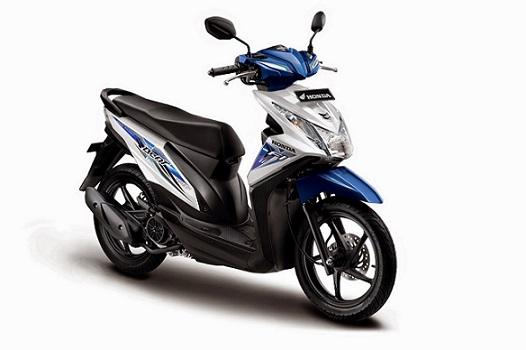 Honda Beat Putih Biru