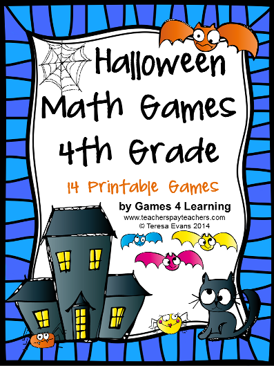 http://www.teacherspayteachers.com/Product/Halloween-Math-Games-Fourth-Grade-1469370
