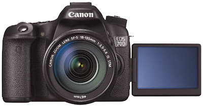 Canon EOS 70D with a vari-angle monitor, new Canon EOS 70D, dual AF CMOS Pixel, DSLR camera, new canon camera, Full HD video, autofocus, high speed focus, Wi-Fi