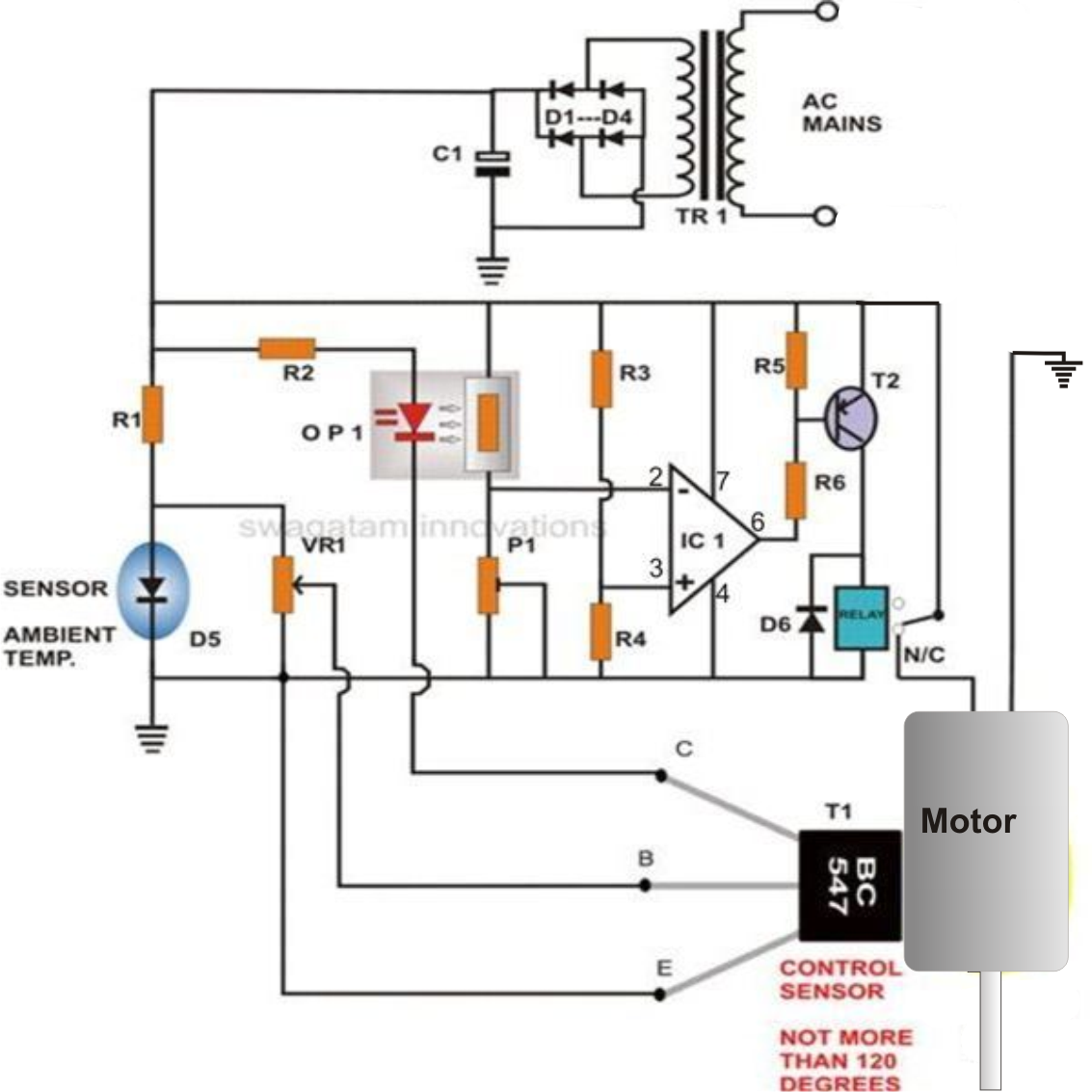 Dc Motor Protector Circuit Over Voltage Under Voltage