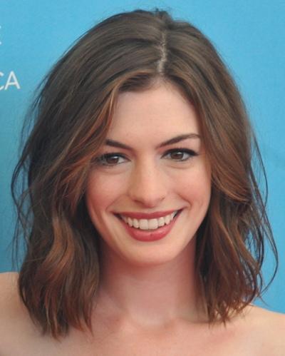 Celebrity Anne Hathaway Hairstyles 2012-2013