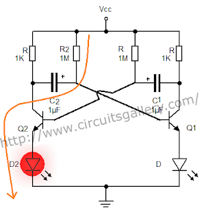 Astable+multivibrator+circuit+using+transistors+3 Astable Multivibrator using transistors   Transistorised Circuit wave form and operation