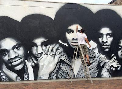 Michael jackson ltimas noticias obra mural en gary for Jackson 5 mural gary indiana
