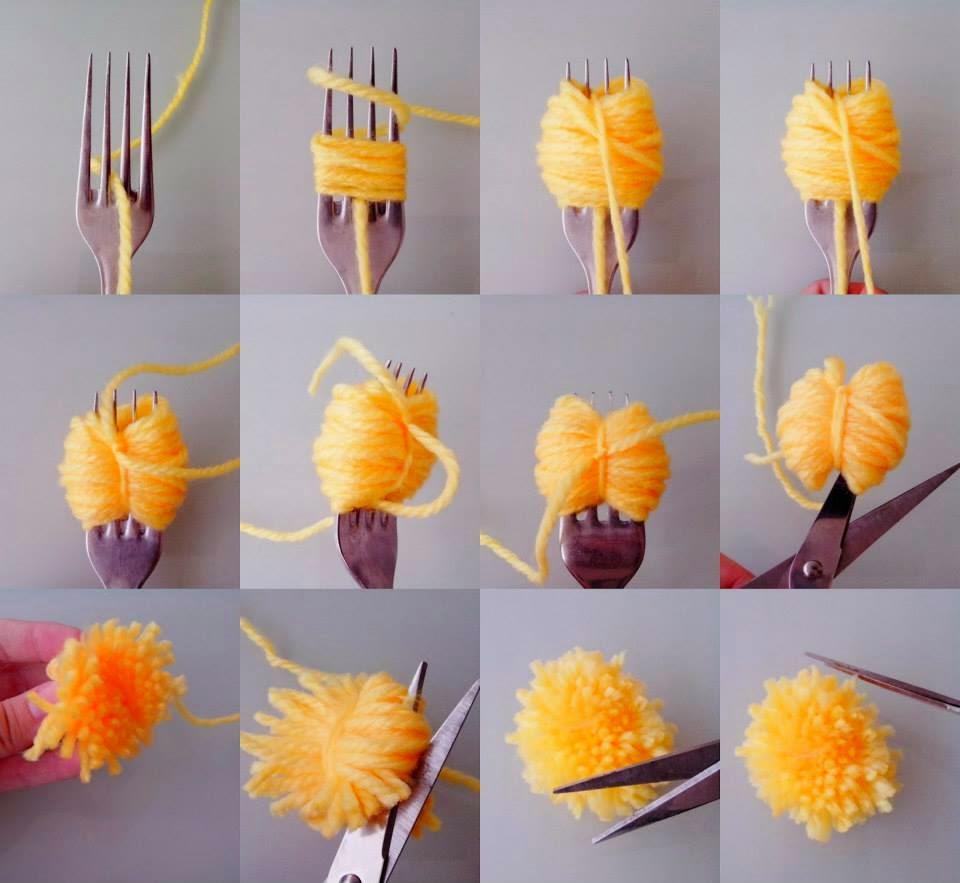 C mo hacer pompones de lana 5 explicaciones todo crochet - Para hacer pompones de lana ...