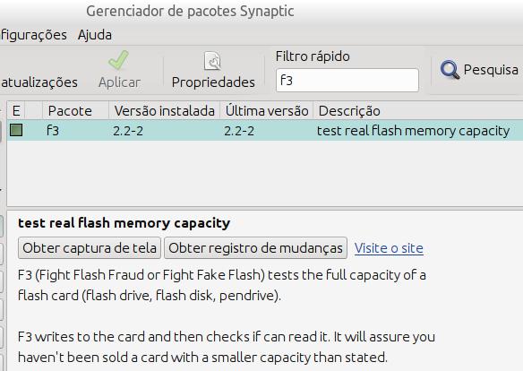 F3 no Synaptic