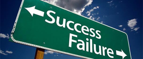 Os caminhos do sucesso e do fracasso.