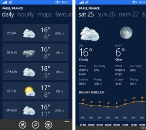 app meteo windows phone