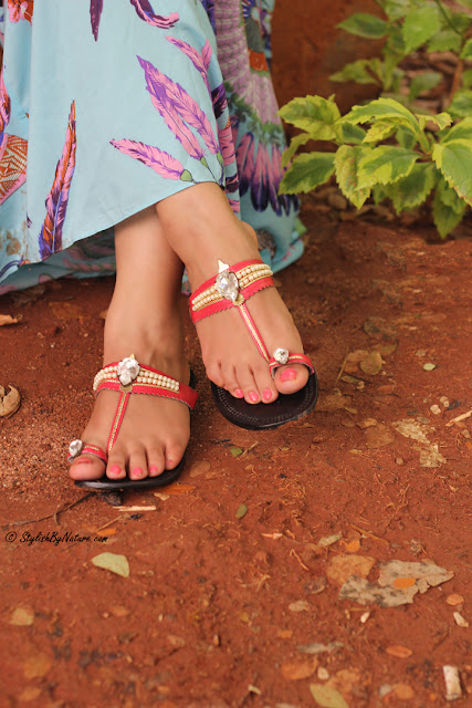 Tropical print, MAxi Dress, Beaded Flats, Colorful Maxi, Affordable Sandals