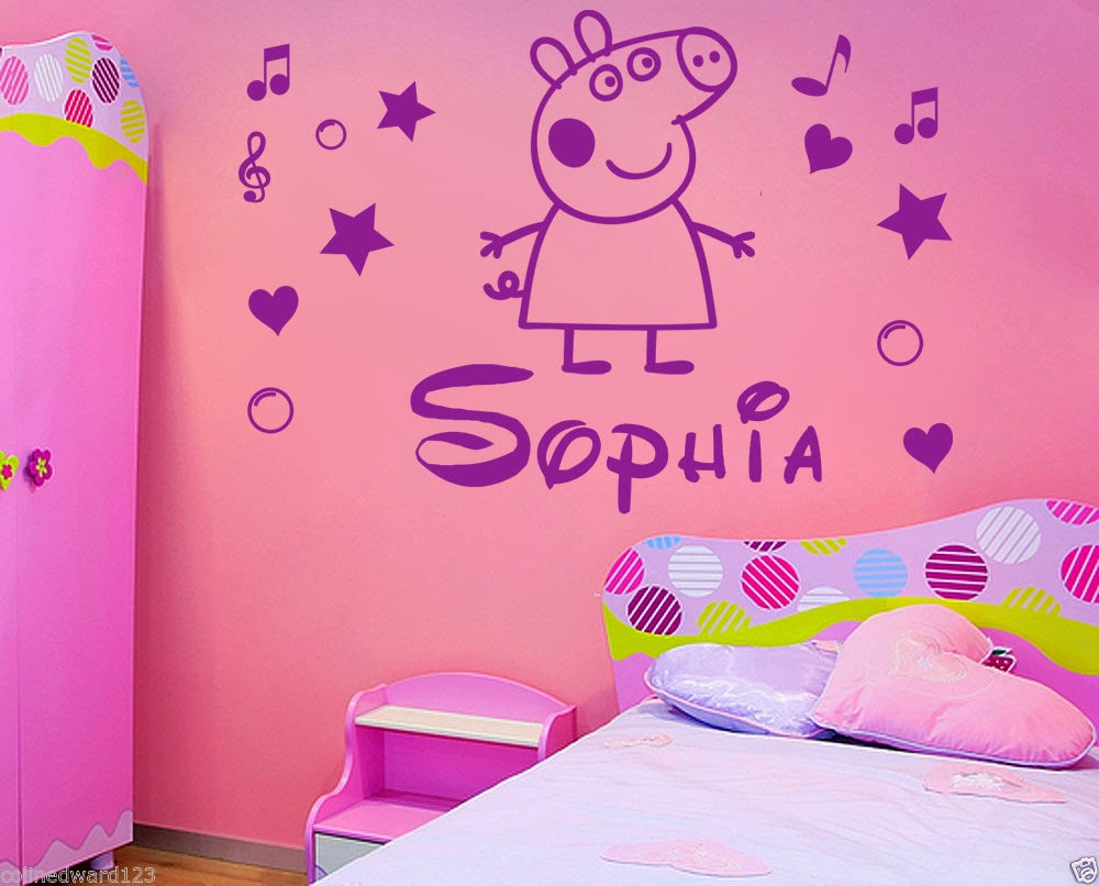 Multinotas pegatinas de pepa pig decoracion de paredes for Pegatinas pared nina