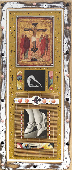 """Icons Americana"" exhibit of collage/assemblages opens Oct. 11 at Copper Country Community Arts Cen"