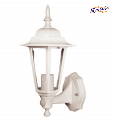 The 9011PIRW White Outdoor wall lantern with PIR