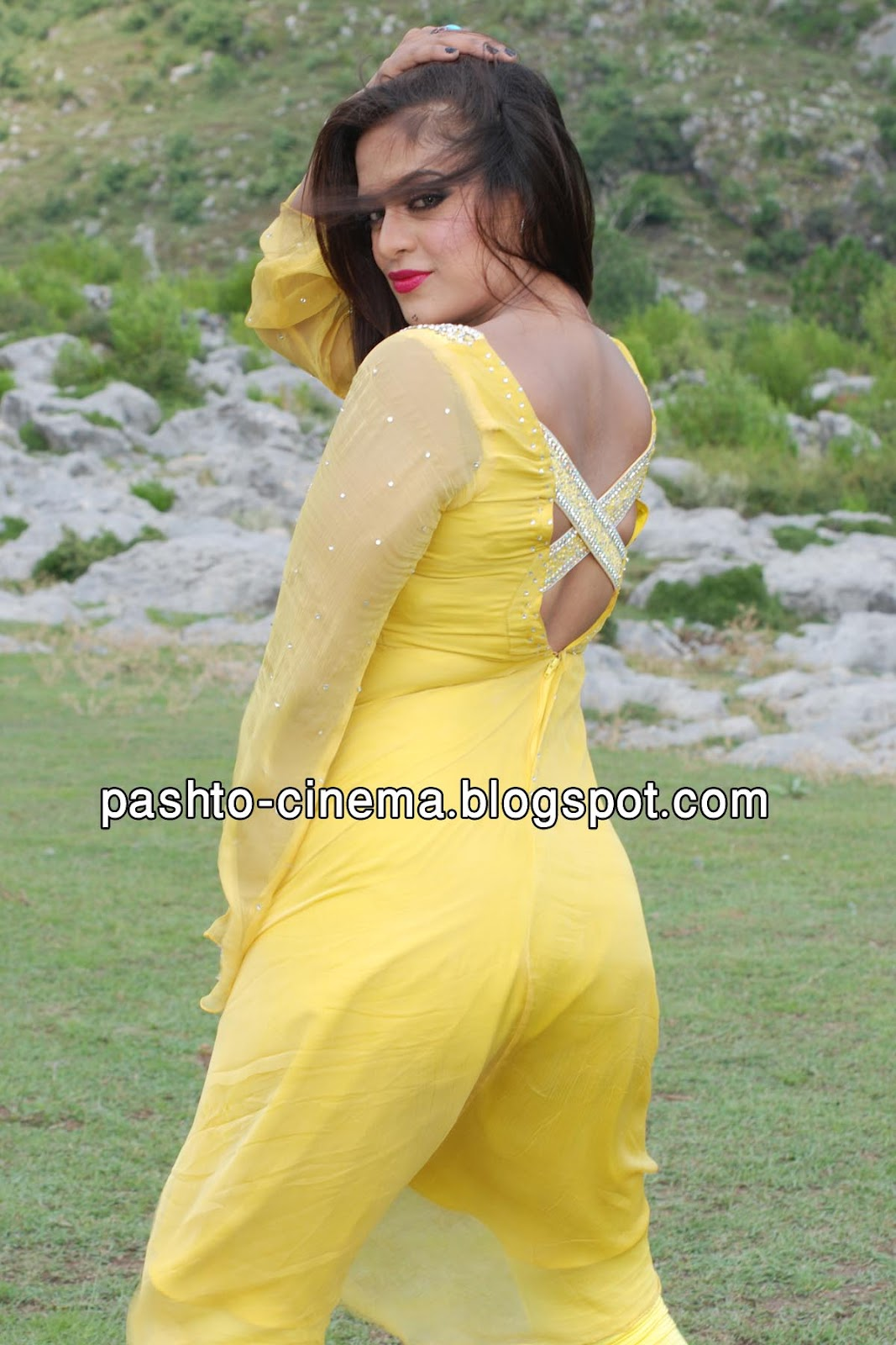 Pashto cinema sobia khan new pictures in film quot qasam quot yellow dress