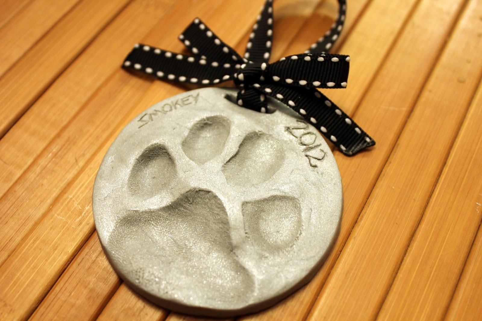Diy Dog Paw Print Ornament