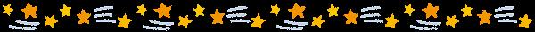 天気のライン素材(流れ星)