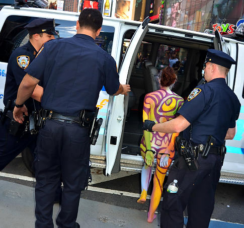 Naked Bust Womens were Arrested In New York City ~ Hot