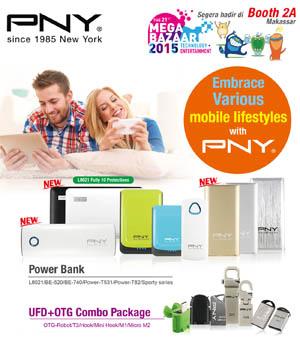 PNY Boyong Jajaran Gadget Terkini di Mega Bazaar 2015