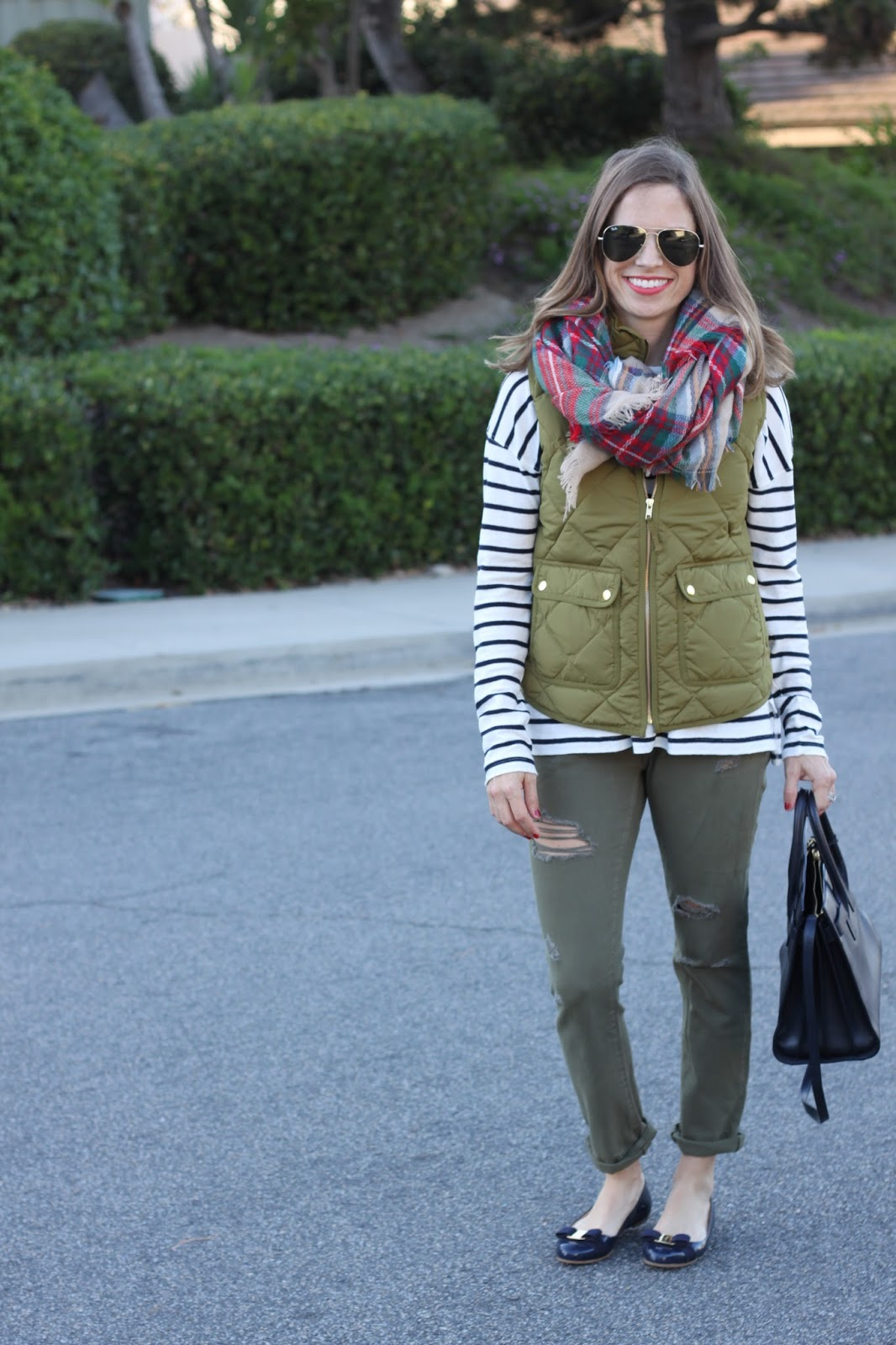 vest and stripes