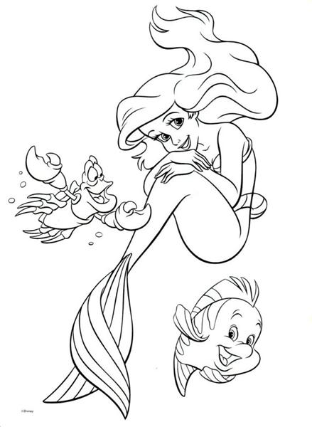Princess Ariel Little Mermaid Coloring Pages