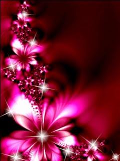 Flowers Colores Neon Wallpaper
