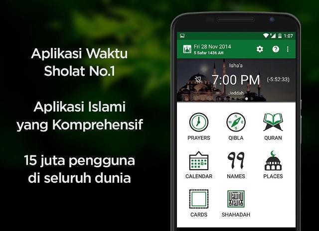 Aplikasi Adzan Untuk Alarm Sholat Terbaik