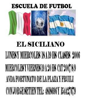 ESCUELA DE FUTBOL  EL SICILIANO