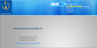 Nepal Telecom Mobile Recharge solution