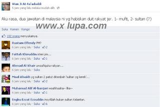 Ustaz Wan Ji At Hina Sultan Johor Dalam Facebook