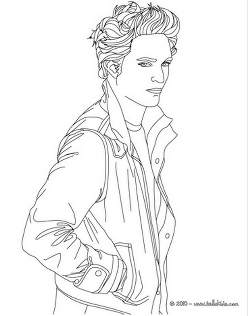 coloring pages of robert pattinson kristen stewart and taylor lautner from hello kids