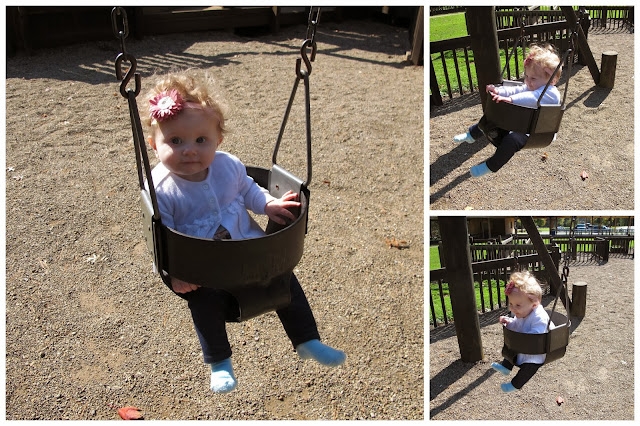 Stella Swinging at the Park