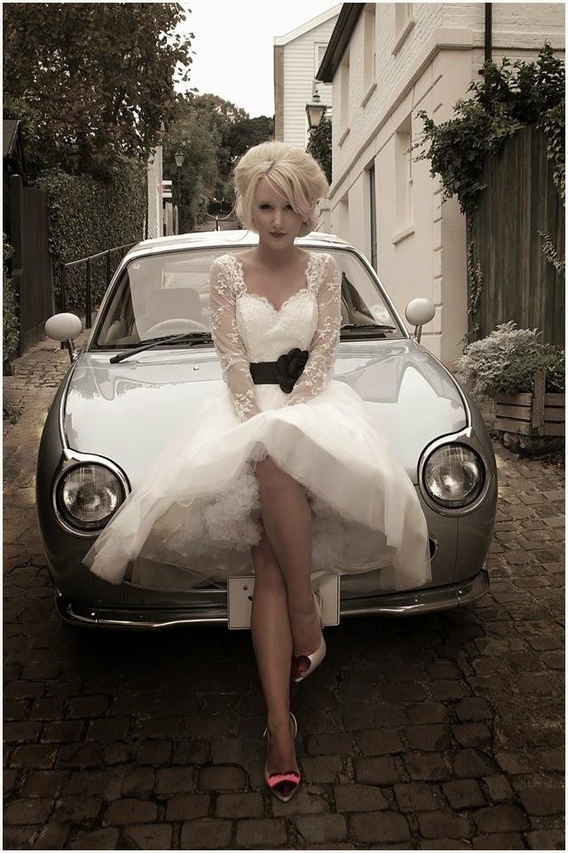 tea length lace wedding dress