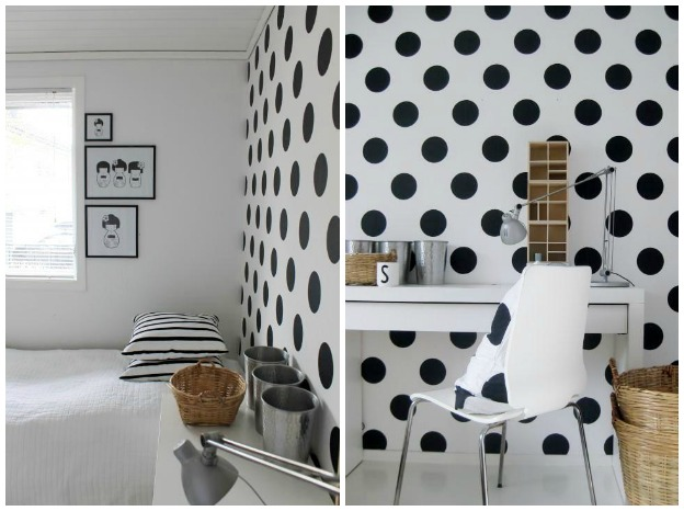home decor polka dots