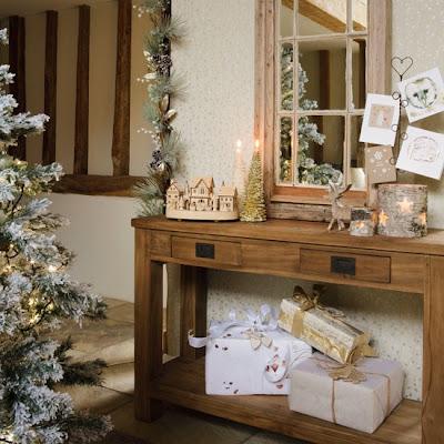 decorar recibidor en navidad