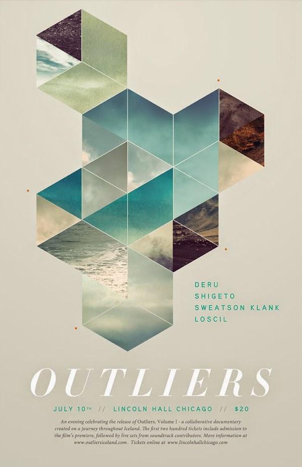 Ketika Desain Disatukan Dengan Fotografi - OUTLIERS POSTER By Ryan Sievert