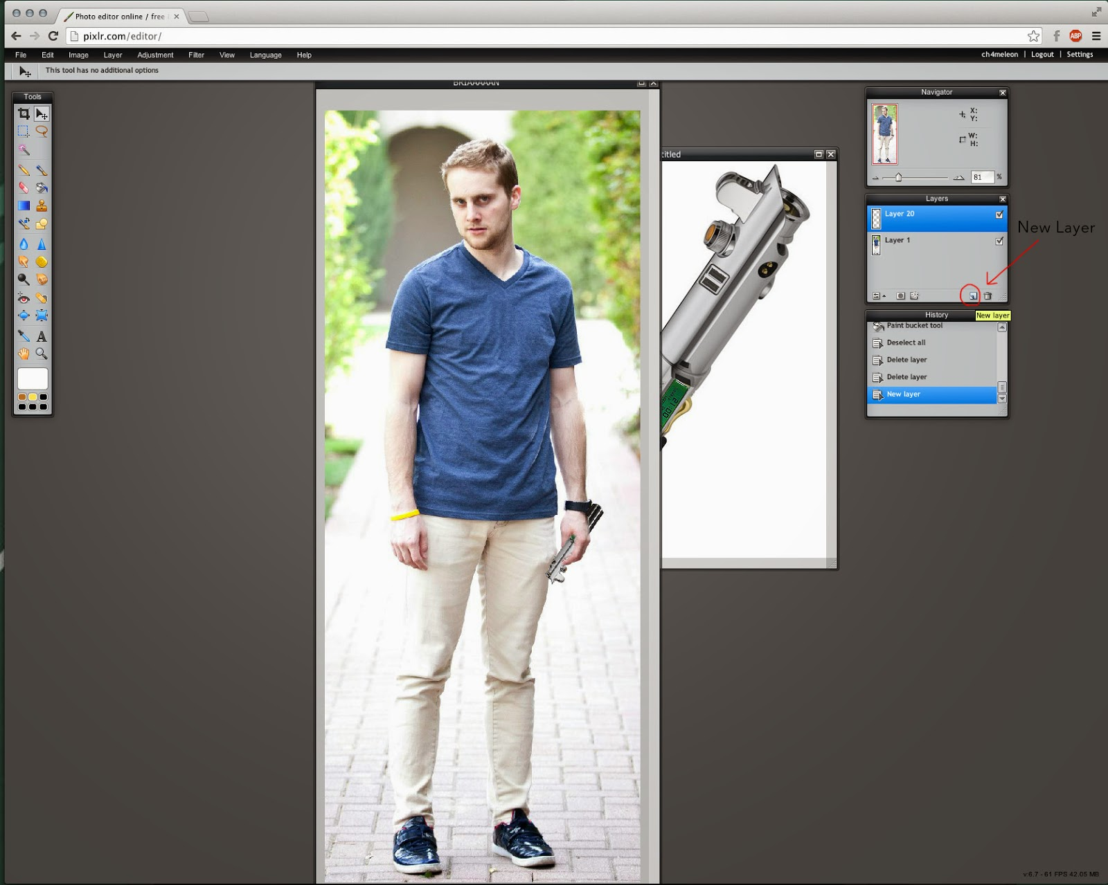 How To Make A Lightsaber Using Pixlr Brian On Star Wars
