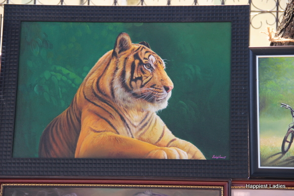 tiger wildlife oil painting