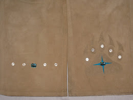 Suede Bear Paw Pants Close-Up