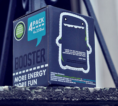 lovely package booster energy drink3 Clever energy drink packaging