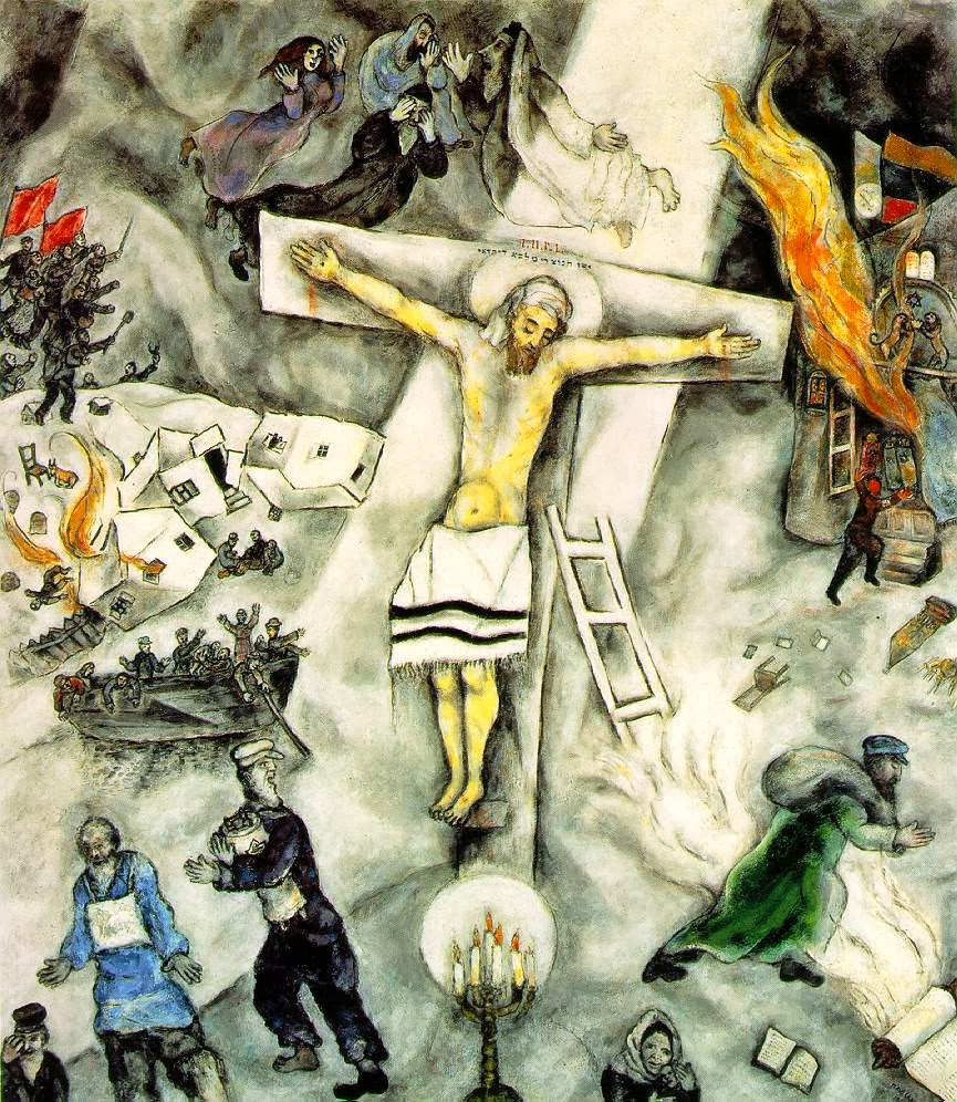 The White Crucifixion Painted By Marc Chagall