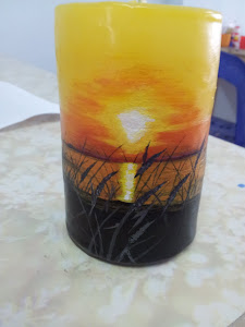 HANDMADE HAND PAINTED CANDLES AS YOU LIKE