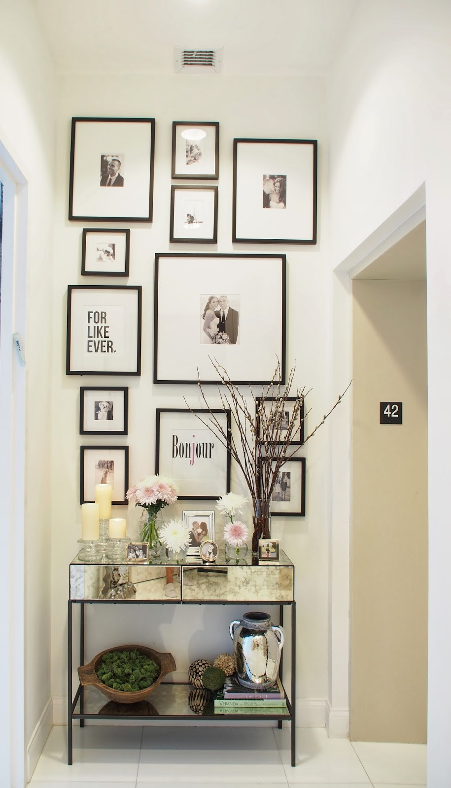 Typical domestic babe spring entryway decor for Entry wall table